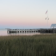 Battery Prints - Sunset at Charleston Bay 5 Print by Cathy Lindsey