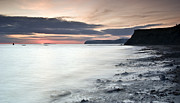 Summer Squall Prints - Sunset At Compton Bay Print by Michael Stretton