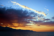 Sun Sky Clouds Posters - Sunset at Costa del Sol Poster by Artur Bogacki