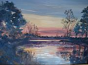 Rawlings Paintings - Sunset At Crosscreek by Marilyn Masters