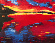 Arkansas Paintings - Sunset at DeGray by Beth Lenderman