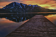 Fallen Leaf Photo Framed Prints - Sunset at Fallen Leaf Lake Framed Print by Jacek Joniec