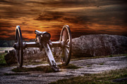 Cannon Framed Prints - Sunset at Gettysburg Framed Print by Randy Steele