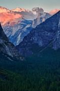 Tunnel View Framed Prints - Sunset at Half Dome Framed Print by Rick Berk