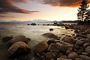 Nevada Prints - Sunset at Hidden Beach Print by Eric Foltz