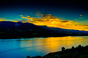 Horsetooth Reservoir Metal Prints - Sunset at Horsetooth Reservoir Metal Print by Harry Strharsky