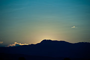 Fort Collins Photos - Sunset at Horsetooth Rock by Harry Strharsky