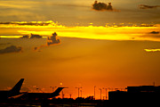 Sunset At Kci Print by Lisa Plymell
