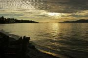 Burrard Inlet Metal Prints - Sunset at Kitsilano Metal Print by Tom Buchanan