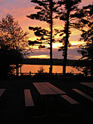 Naomi Framed Prints - Sunset at Lake Naomi 2 Framed Print by Addie Hocynec