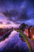 Creek Framed Prints Art - Sunset At Loughborough by Yhun Suarez