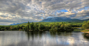 Katahdin Prints - Sunset at Mt. Katahdin Print by Lori Deiter