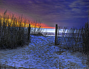 Myrtle Beach Prints - Sunset at Myrtle Beach SC Dunes Print by Joe Granita