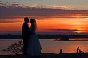 David Freuthal Posters - Sunset at night a wedding delight Poster by David Freuthal