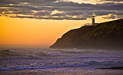 Lighthouse Sunset Photos - Sunset at North Head II by Robert Bales
