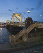 Pittsburgh Pirates Prints - Sunset at Roberte Clemente Bridge Print by Dirk VandenBerg