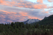 Sunset Greeting Cards Prints - Sunset at Rocky Mountain Park.Co Print by James Steele