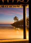 San Clemente Pier Prints - Sunset at San Clemente Print by Cliff Wassmann
