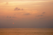 Night Scene Pastel Prints - Sunset at Sea Print by Susan Isakson
