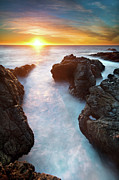 Sunset Reflection Prints - Sunset At Seashore Print by John B. Mueller Photography