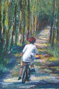 Biking Pastels - Sunset at Seven by Gina Ward
