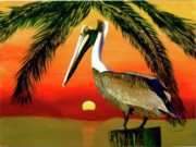 Sunset At The Beach Print by William Demboski