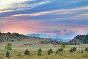 Ft Collins Framed Prints - Sunset at the Colorado High Park Wildfire  Framed Print by James Bo Insogna