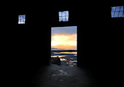 Sunsets Art Prints - Sunset At The Door - The Great Salt Lake Print by Steven Milner