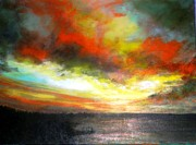 Marie-Line Vasseur - Sunset at the end of the...