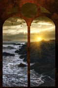 Window Framed Prints Framed Prints Framed Prints Posters Posters - Sunset At The Jersey Shore Poster by Thomas York