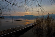 Panorama Acrylic Prints - sunset at the Lake Maggiore Acrylic Print by Joana Kruse