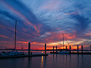 Fernandina Beach Framed Prints - Sunset at the Marina Framed Print by Scott Moore