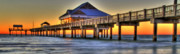 Beaches In Florida Prints - Sunset at The Pier Print by Scott Mahon