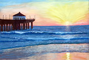 Trudy Morris - Sunset at the Pier