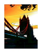 Mystic Sky Art Framed Prints - Sunset at Tower Brigde Framed Print by Stefan Kuhn