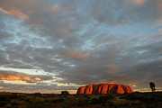 Sunset At Uluru Print by Vivian Christopher