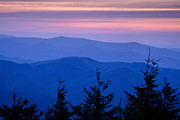 Blue Ridge Mountains Posters - Sunset atop the Eastern U.S. Poster by Andrew Soundarajan