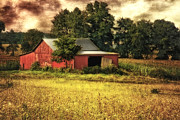 Barn Digital Art Originals - Sunset Barn by Mary Timman