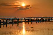 Chincoteague Island Prints - Sunset Bay I Print by Steven Ainsworth