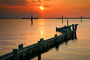 Chincoteague Island Prints - Sunset Bay II Print by Steven Ainsworth