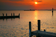 Chincoteague Island Prints - Sunset Bay VI Print by Steven Ainsworth