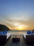 Date Metal Prints - Sunset Beach Metal Print by Setsiri Silapasuwanchai