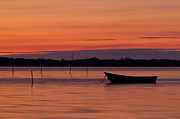 Small Boat Prints - Sunset Boat Print by Gert Lavsen