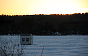 Pond Hockey Photos - Sunset Bob by Michael Mooney