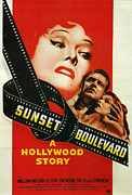 Film Noir Framed Prints - Sunset Boulevard Framed Print by Nomad Art And  Design
