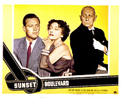 Films By Billy Wilder Framed Prints - Sunset Boulevard, William Holden Framed Print by Everett