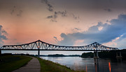 Dike Prints - Sunset Bridge Print by Al  Mueller