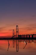 Sunset By The Bridge Print by Jorgen Norgaard
