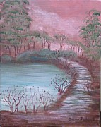 Brenda  Bell - Sunset by the pond