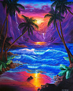 Tropical Sunset Framed Prints - Sunset Framed Print by Callie Fink
